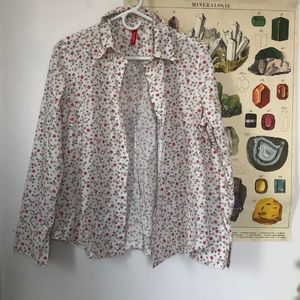 Hanna Andersson Floral Button Down Shirt
